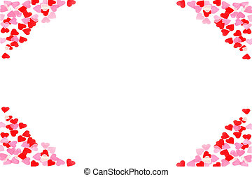 Valentine background - Valentine heart on white background