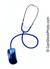 Stethoscope and of mouse - Technology and medicine -...