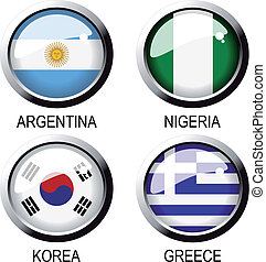 Vector flags (group B) - south africa