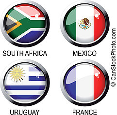 Vector flags (group A) - south africa