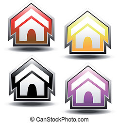 Vector buttons of home