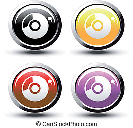 Vector buttons with disk