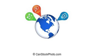 Social network around the world - Growing social network on...
