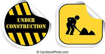 Vector stickers - Under construction