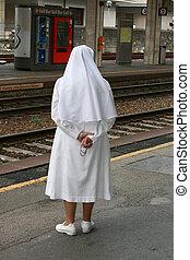 monja, católico