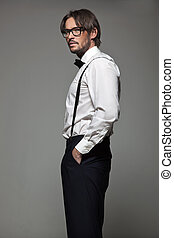 Elegant man in glasses