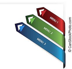 Vector navigation arrows