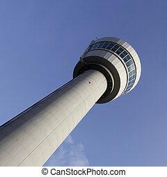 panowanie, lotnisko, Lot, wieża,  Schiphol