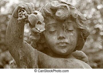 mourn - angelic face, Staglieno, Genova, Italy