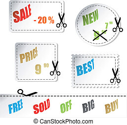 Vector shopping stickers