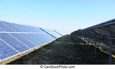 Solar photovoltaic panels. Solar pa