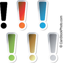 Vector exclamation mark stickers