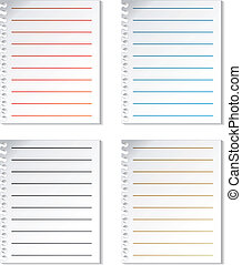 Vector sheets of paper