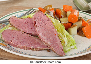 Corned Beef and Cabbage Dinner - Corned beef and cabbage...