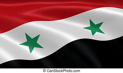 Syrian flag in the wind Part of a series