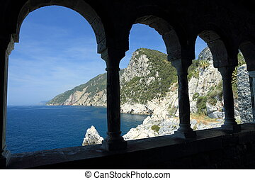 italian riviera in Porto Venere,UNESCO World Heritage...
