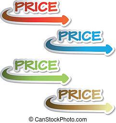 Vector stickers of price