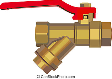 Bronze ball valve Illustration in vector format EPS