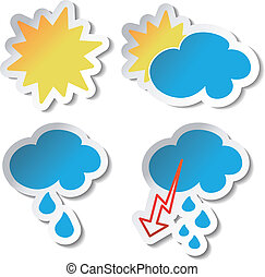 Vector weather stickers
