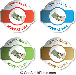 Vector labels - money back