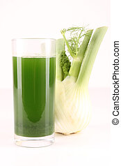 isolated fennel juice on white