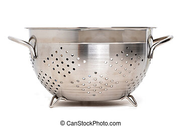 Colander - colander on a white background
