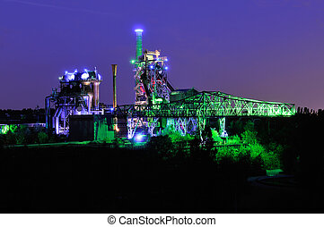 Landschaftspark Duisburg Nord - Night shot of...
