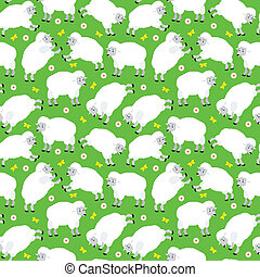 Seamless sheeps pattern