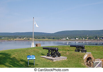 Fort Anne and Annapolis River - view of the Annapolis River...
