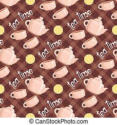 Seamless tea pattern