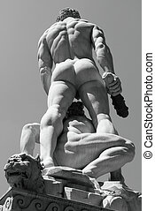 male body - Hercules and Cacus sculpture by Baccio...