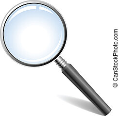magnifying glass - Vector illustration of magnifying glass