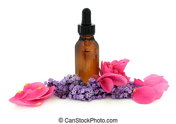 Rose and Lavender Therapy - Rose flower petals and lavender...