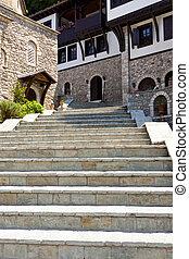 Stony stairs in Sv. Jovan Bigorski Monastery. - Old stony...