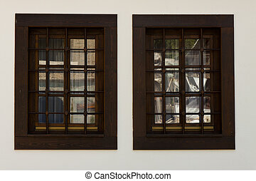 Two window - Old Monastery, Macedonia - Two window in old...