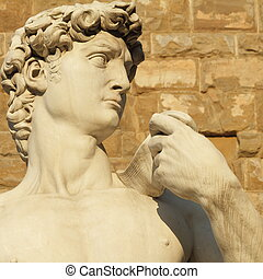 David from Italy - famous renaissance sculpture of David by...