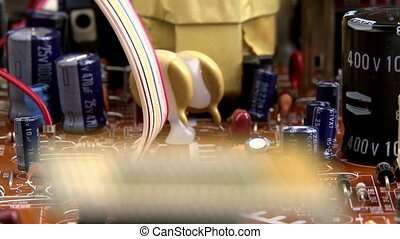 Electronics - processor side - shallow depth of field