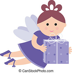 Pretty fairy with a gift
