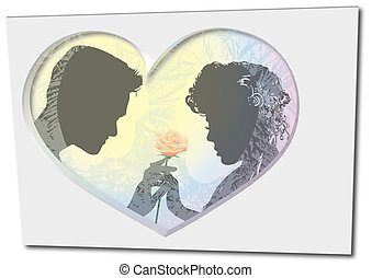Valentines day - St Valentin, a pair of sweethearts, heart,...
