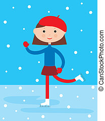 Girl on a skating rink