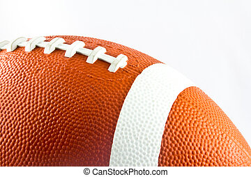 American Football Ball - A particular of an American...