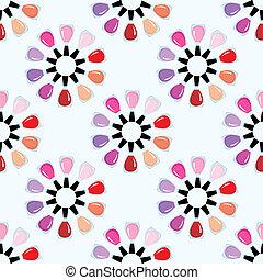 Seamless nail polish pattern.