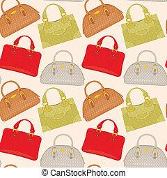 Seamless bags pattern