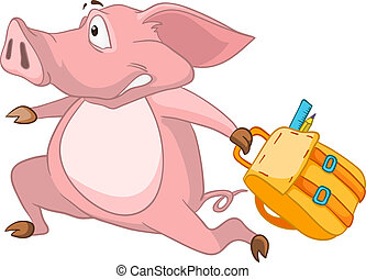 Cartoon Character Pig