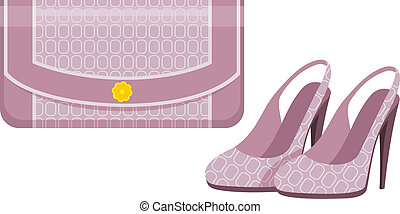Female bag and shoes