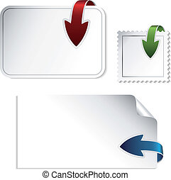 Vector navigation arrows on the stickers