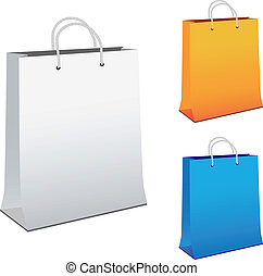 Vector paper shopping bags