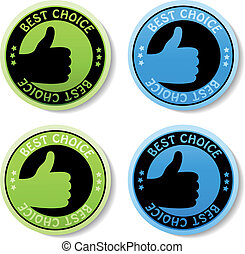 Vector sticker - best choice