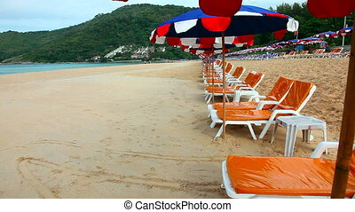 Beach - Sandy beach with Loungers and Umbrellas