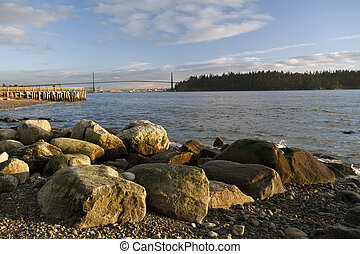 Lions Gate Bridge and English Bay - Beaches of West...